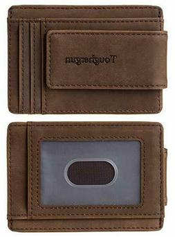 NapaWalli Genuine Leather Magnetic Front Pocket Money Clip W