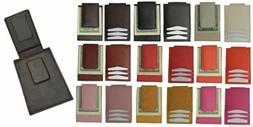 Genuine Leather Mens Slim Magnetic Money Clip Credit Card Ho
