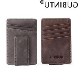 Genuine Leather Mini <font><b>Slim</b></font> Cash Women Men