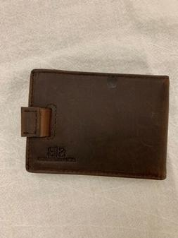 Genuine Leather RFID Blocking Bifold Mens Slim Minimalist Wa