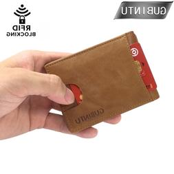 GUBINRU RFID Blocking Bifold Men's <font><b>Wallets</b></fon