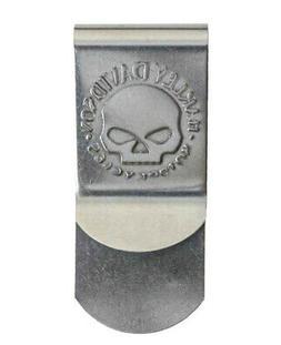 Harley-Davidson® Men's Willie-G Skull Silver Metal Money Cl