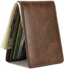hissimo mens slim front pocket wallet id