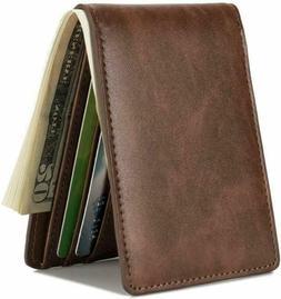 hissimo mens slim front pocket wallet id