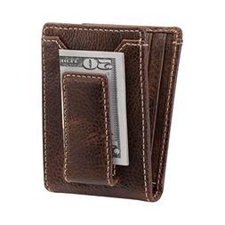 HOJ Co. IVAR ID BIFOLD Money Clip Wallet-Full Grain Leather-
