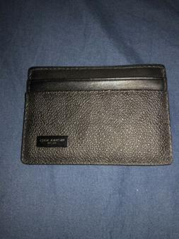 MICHAEL KORS JET SET MENS CARD CASE MONEY CLIP MK BLACK MINI