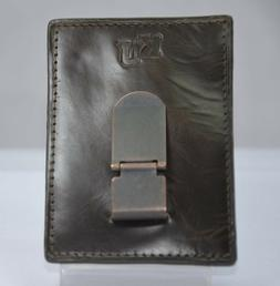 Fossil KU KANSAS Brown Leather Pocket Wallet MultiCard ID Ho