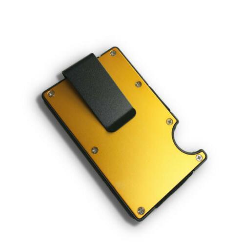 1/2x RFID Slim Clip Wallet Credit Thin Minimalist