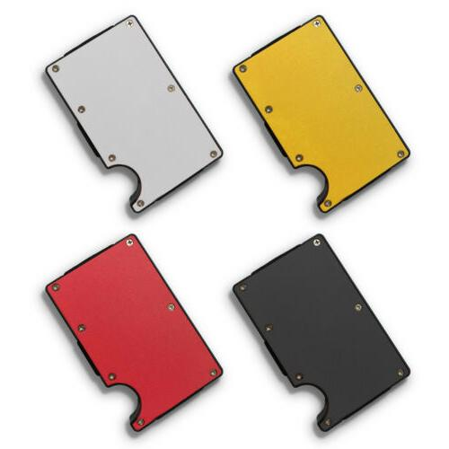 RFID Blocking Clip Wallet Purse Thin