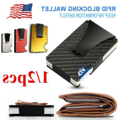 1 2x men rfid blocking slim money