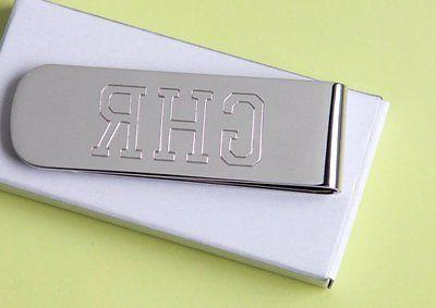 1 Personalized money clip best man gift free custom engraved
