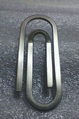 1 stainless steel gem money clip heavy