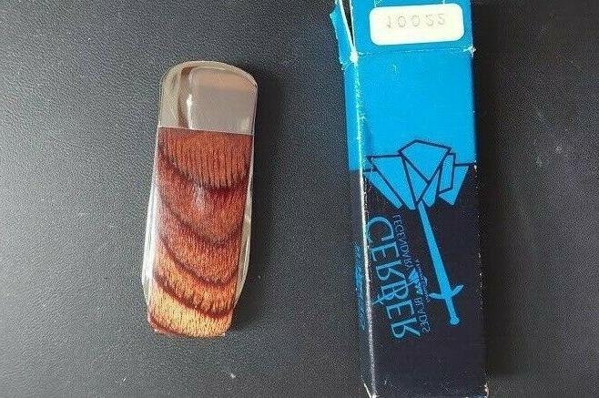 10022 silver knight money clip polish wood
