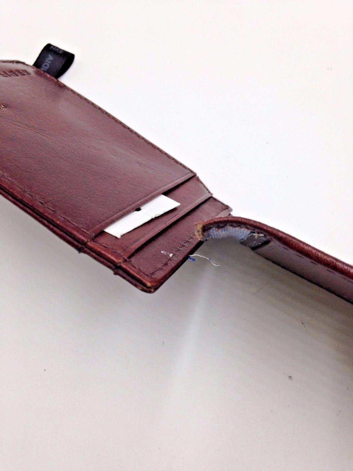 $103 BROWN MONEY CLIP ID CARD FRONT WALLET