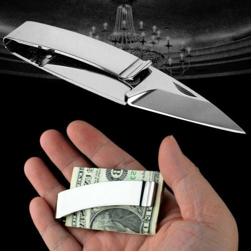 1pcs lightweight foldable pocket knife money clip