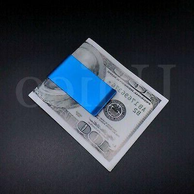 2 Steel Slim Money Cash Credit Blue