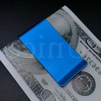 2 pc stainless steel slim money clip