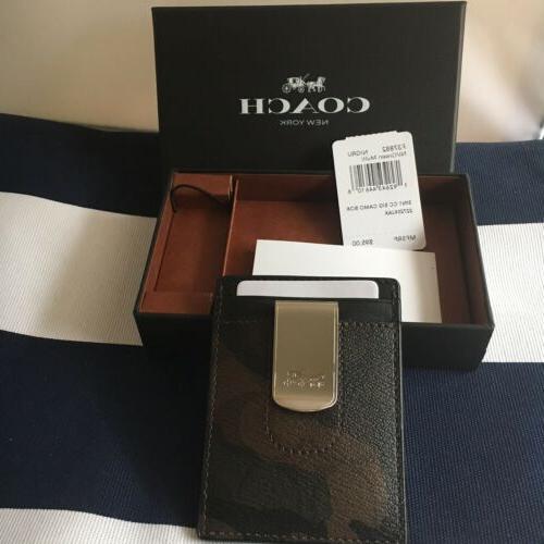 Coach 3 In Signature C And Card Case Gift Set Box Camo Print