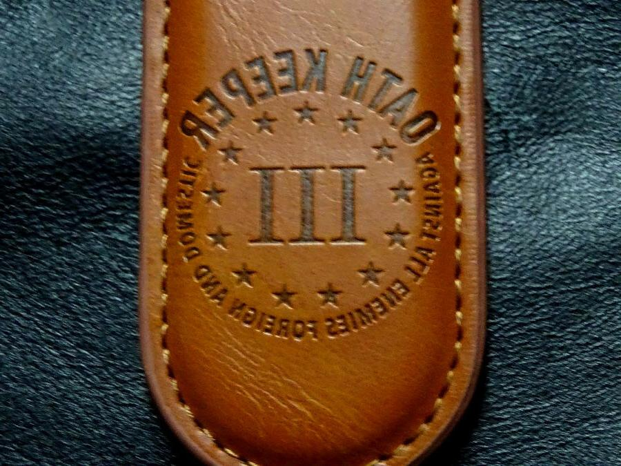 3 AGAINST ALL ENEMY BROWN MONEY CLIP