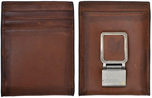3d brown distressed leather wallet