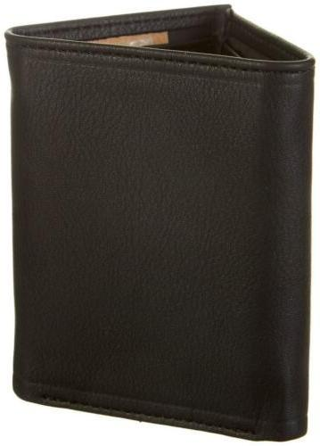 $81 DOCKERS MEN LEATHER TRIFOLD PHOTO WALLET CLIP SET