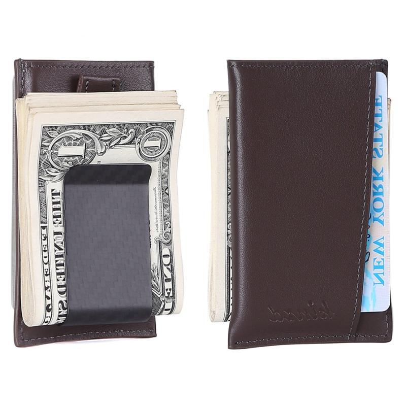Kinzd Carbon Fiber Money Clip Wallet, Card Case, Secure RFID