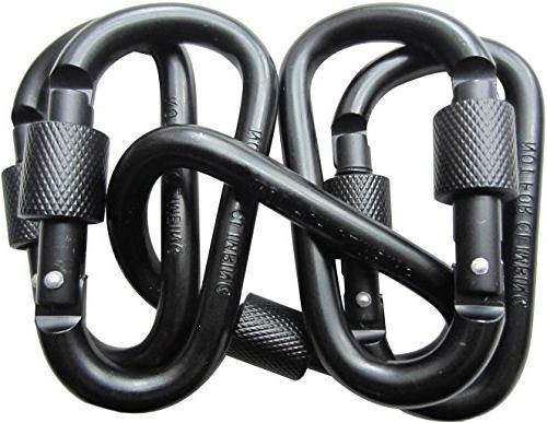 LeBeila 5 PCS Carabiner Climbing D Ring Keychain with Clip D