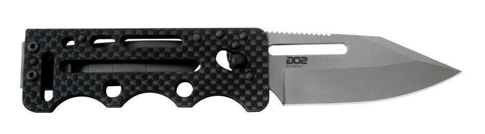 SOG Ultra C-TI Carbon Fiber Money Clip Pocket Knife 2.8 inch