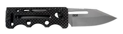 SOG Ultra C-TI Carbon Fiber Money Clip Pocket Knife Plain Ed
