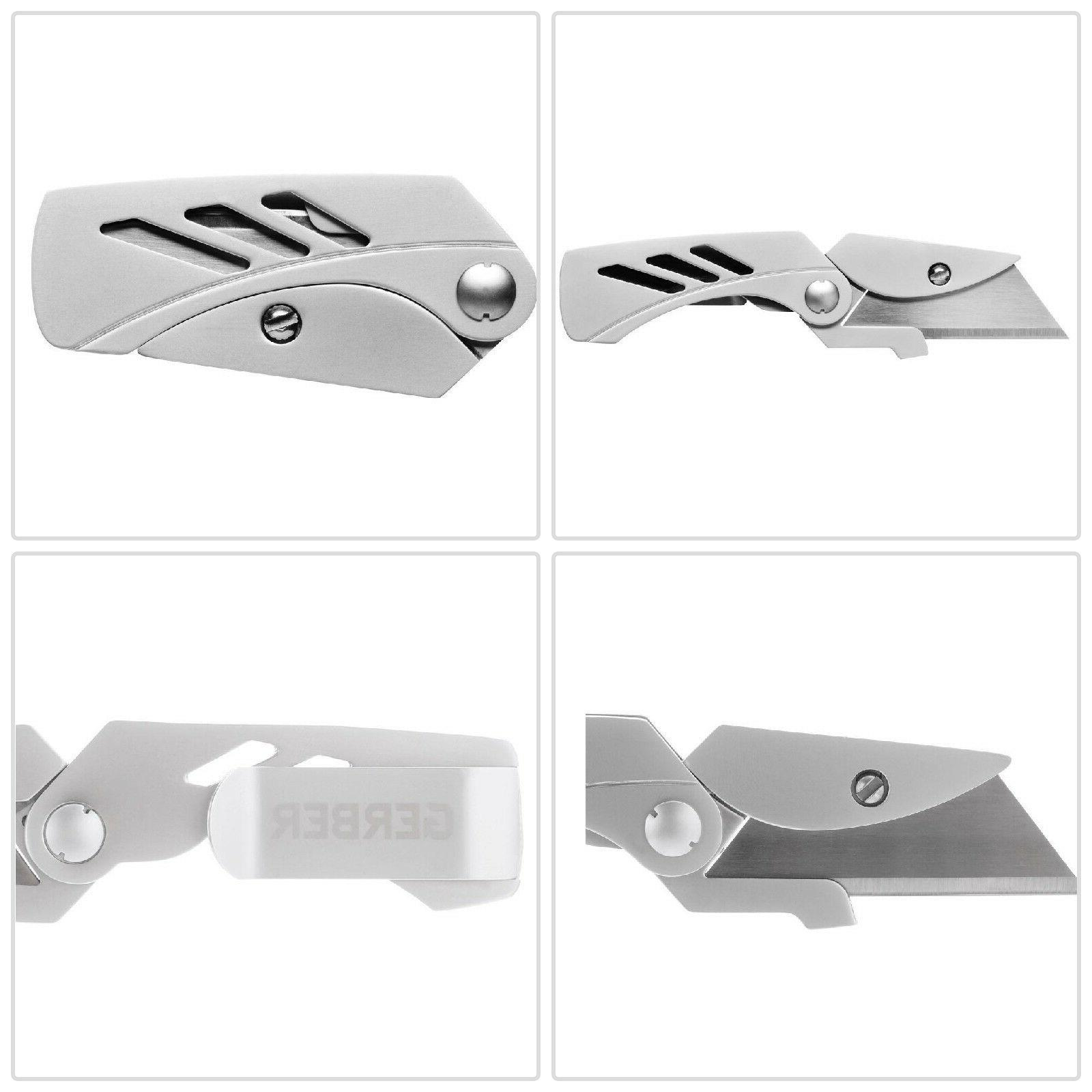 Small Lite Utility Folding Pocket Knife Stainless Steel Mone