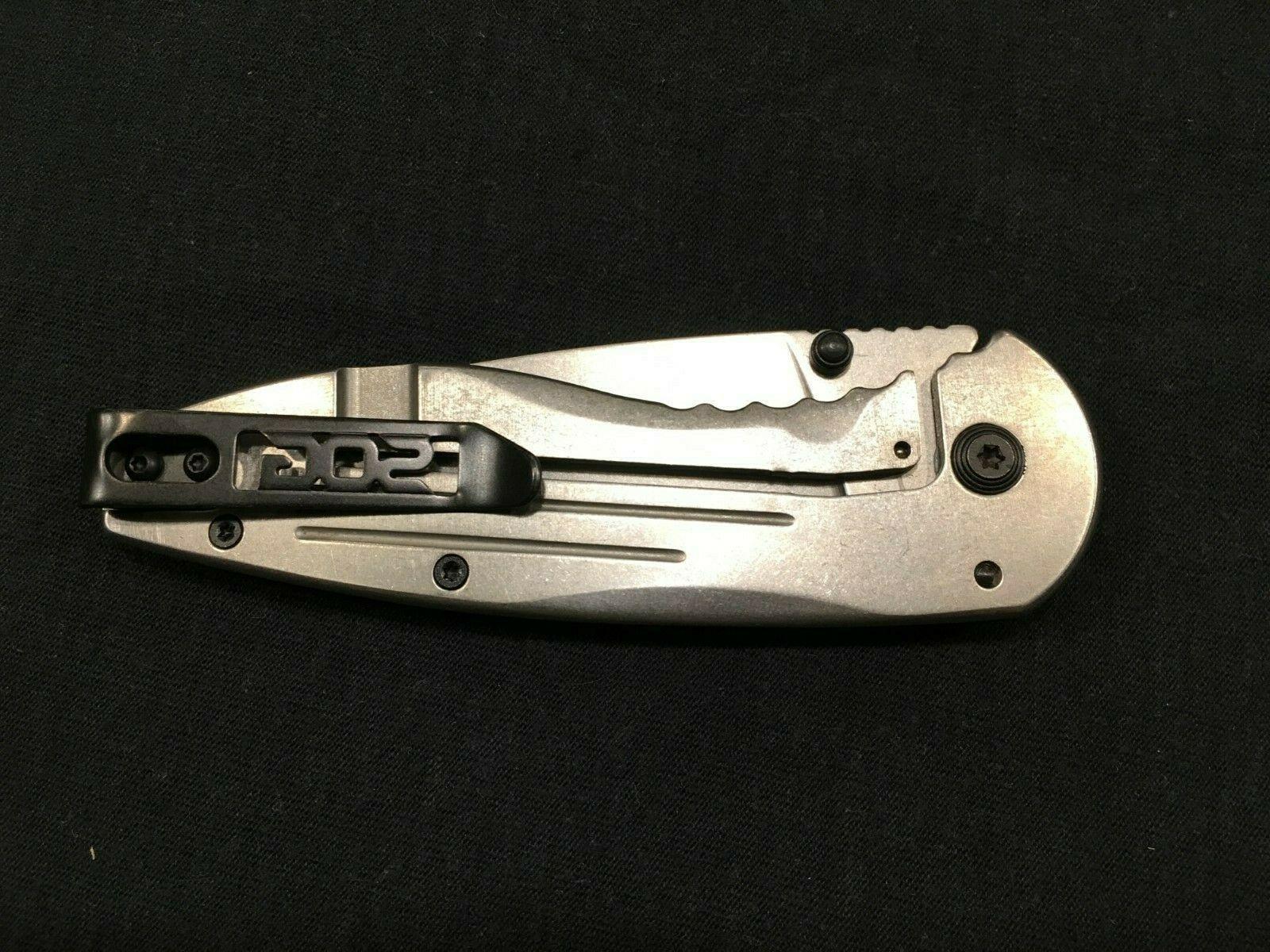 SOG Aegis Knife Stonewashed Point Blade,