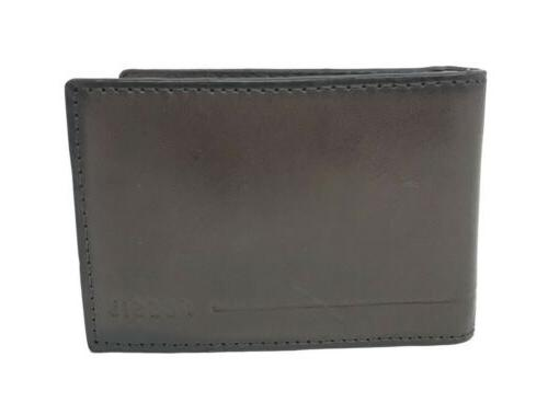 Fossil Allen Fp Mc Bifold Dark Brown Money Clip Credit Card