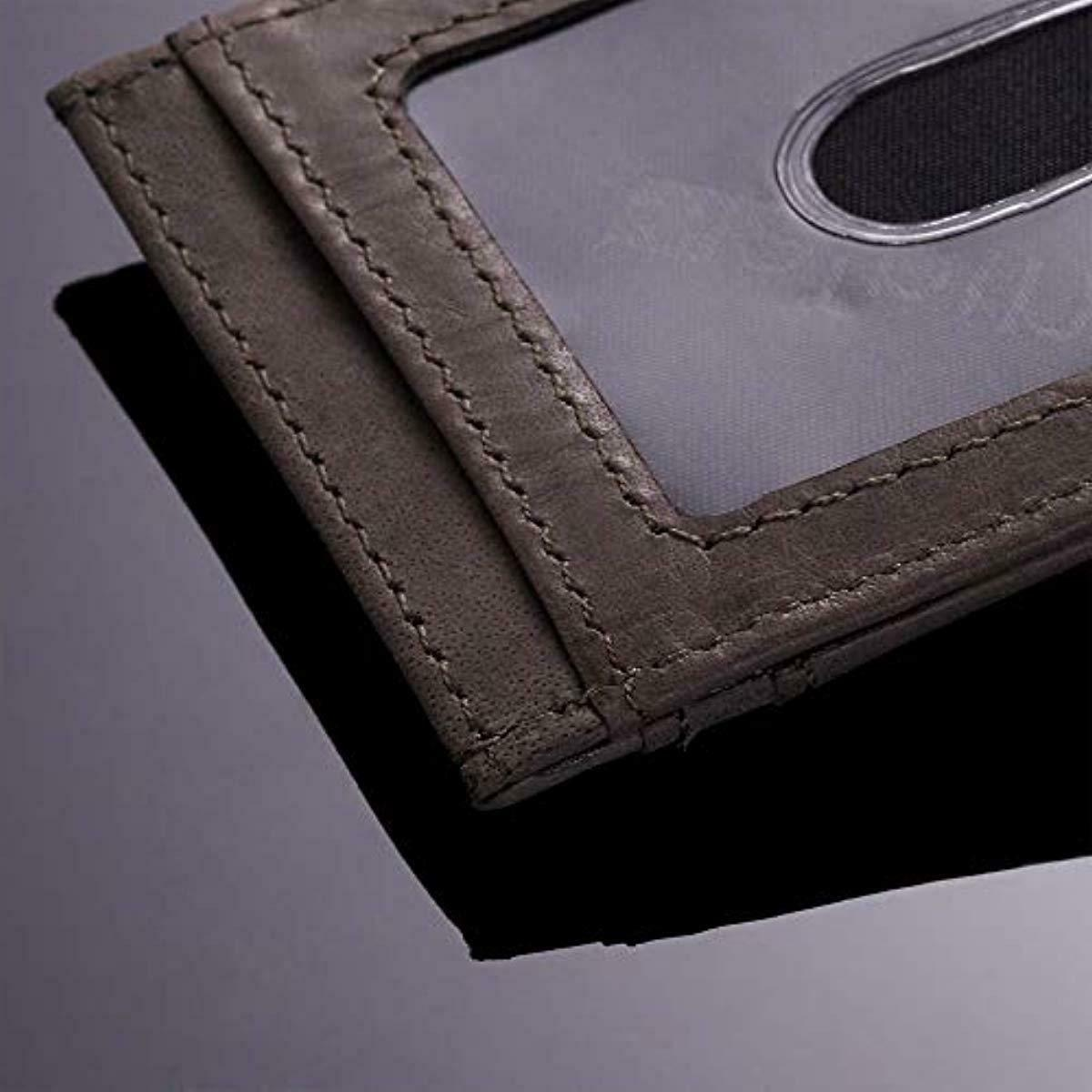 Leather Money Slim Front Wallet