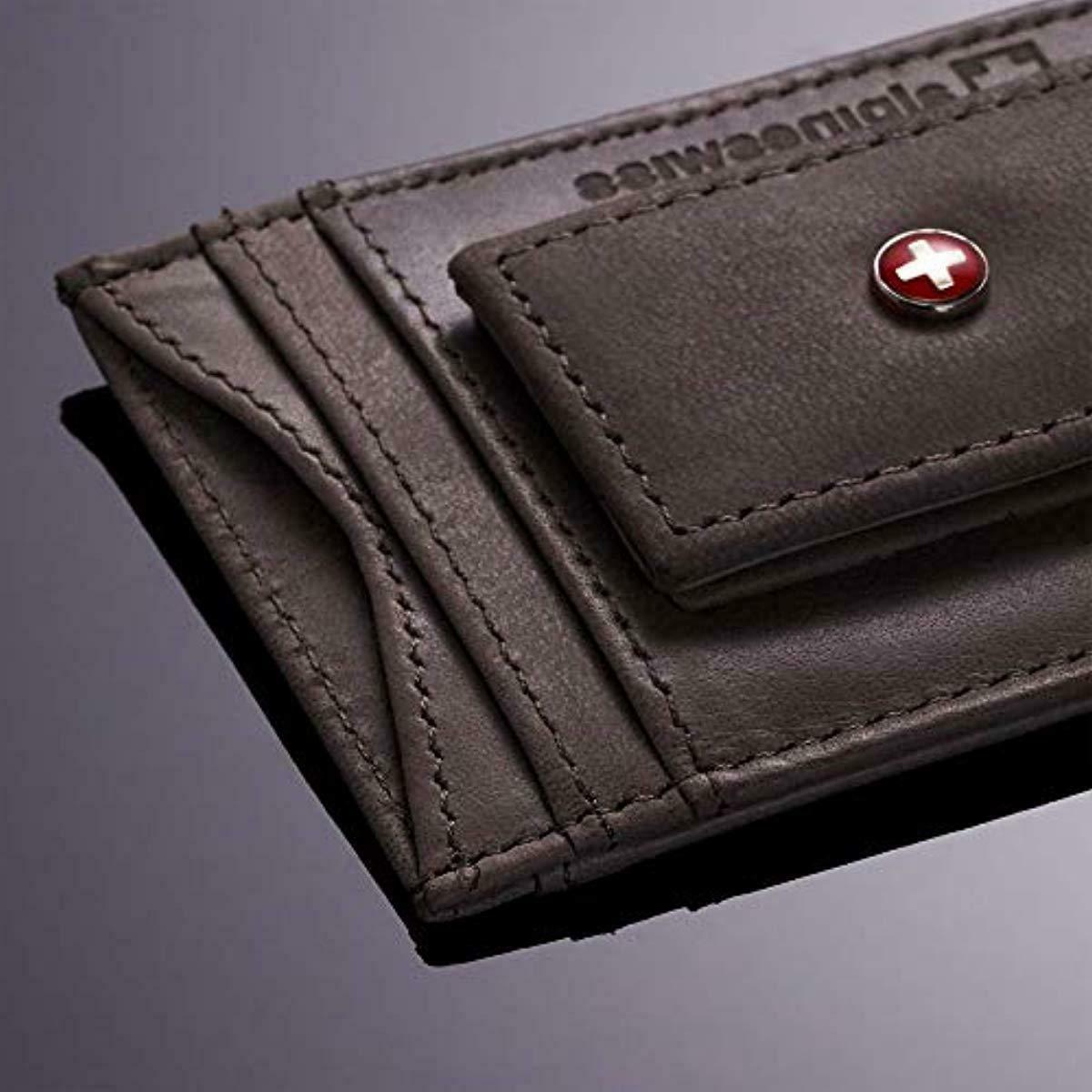Alpine Swiss Mens Wallet Leather Slim Front Pocket