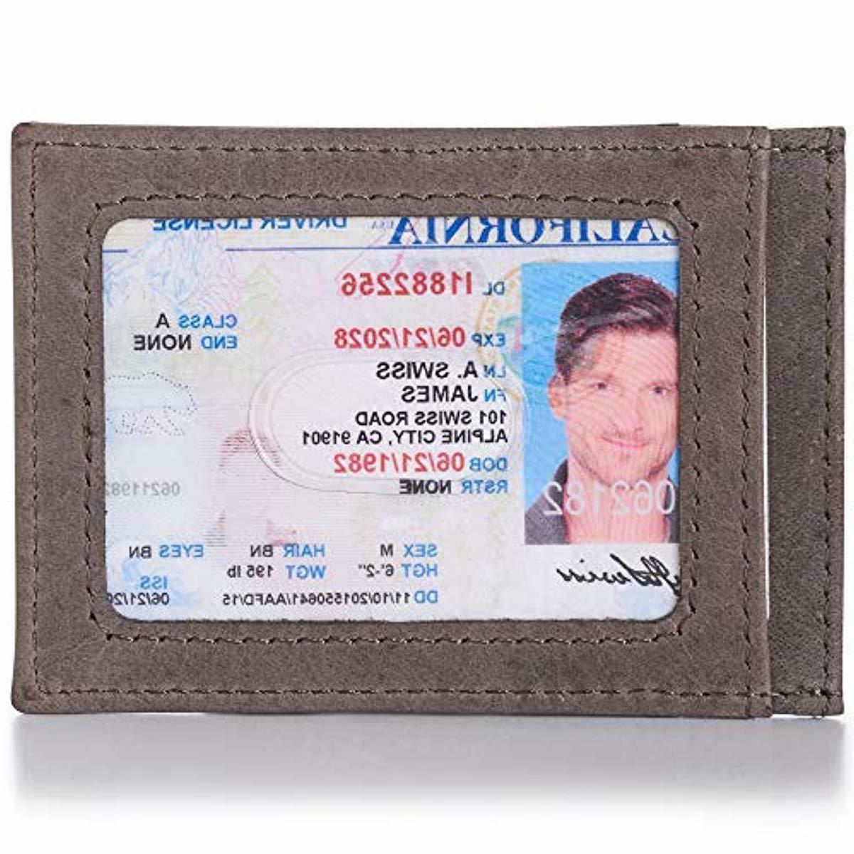 Alpine Swiss Wallet Leather Slim Wallet