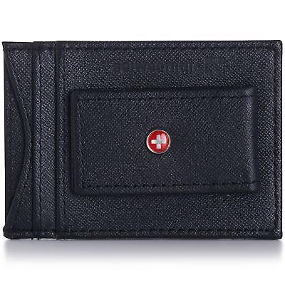 AlpineSwiss Mens Clip Magnet Pocket Wallet Slim ID Case