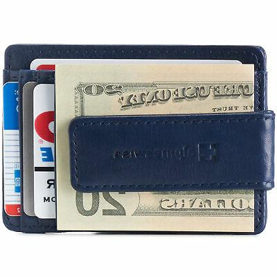 AlpineSwiss Clip Front Wallet Slim ID Case