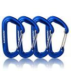 4 Pack Aluminium Wiregate Carabiner Lightweight Clips For Ha