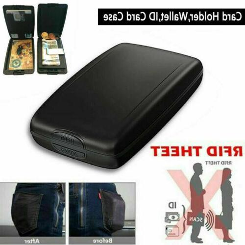 aluminum rfid blocking wallet slim money clip