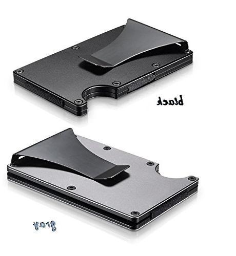 Aluminum Slim Pocket Minimalist RFID With Money Clip