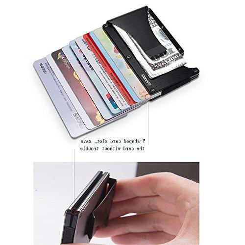 Aluminum Wallet Pocket Minimalist RFID Clip