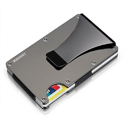 aluminum slim wallet front pocket wallet minimalist