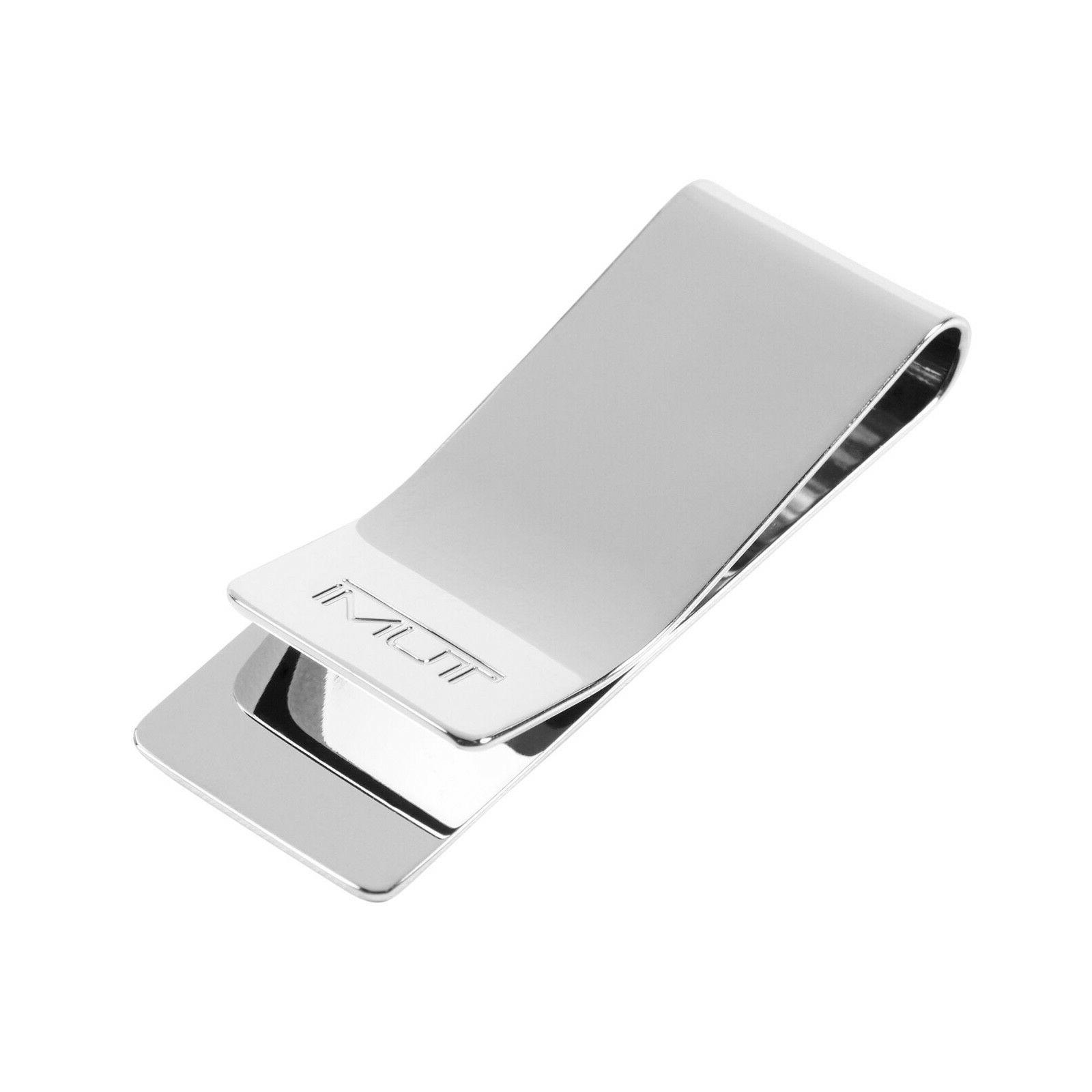 ballistic etched money clip silver 12602slv