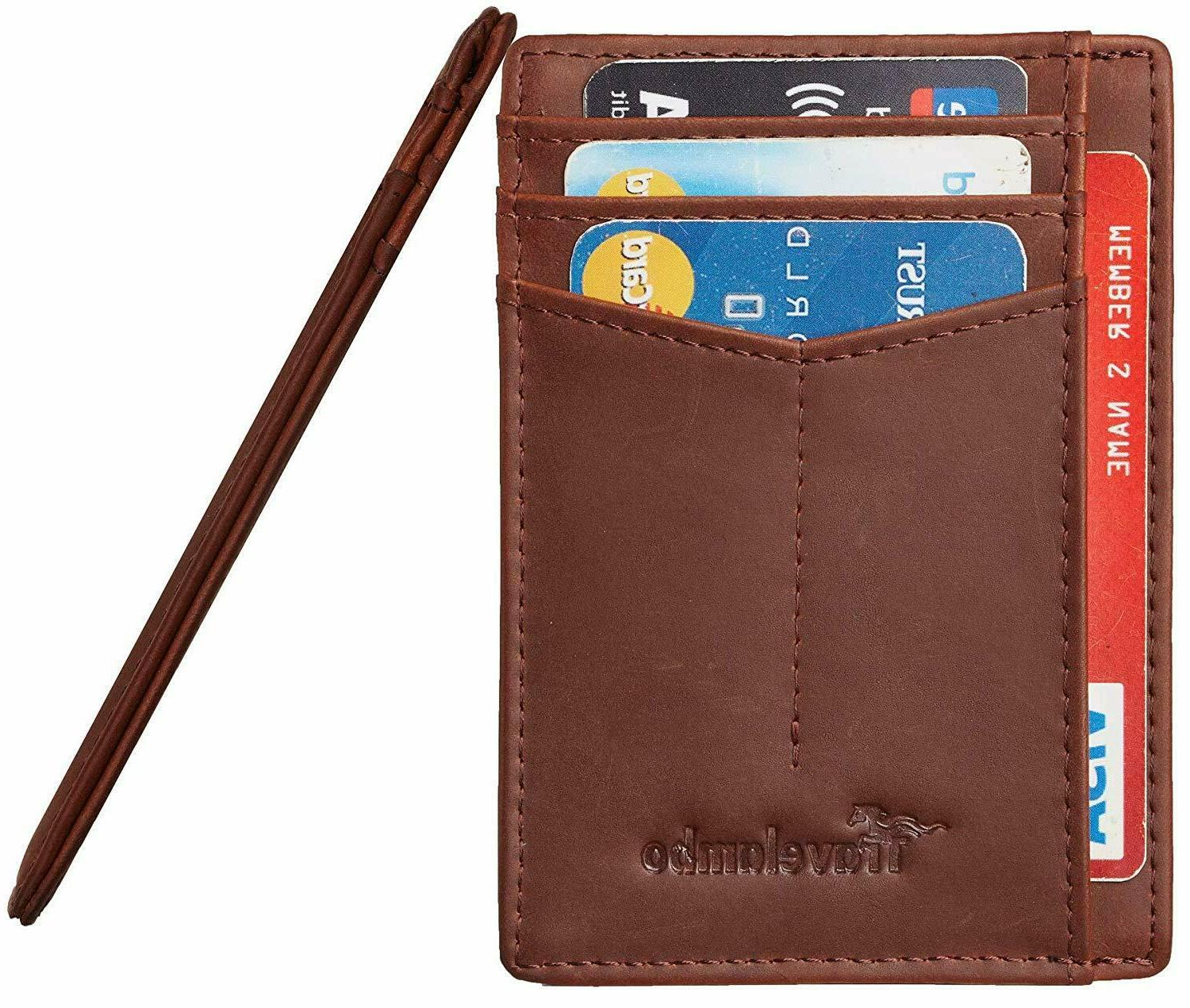 Best RFID Front Minimalist Genuine Leather Small Size all