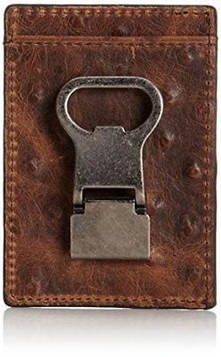 Nocona Bi-fold Metal/Money Clip Wallet Brown