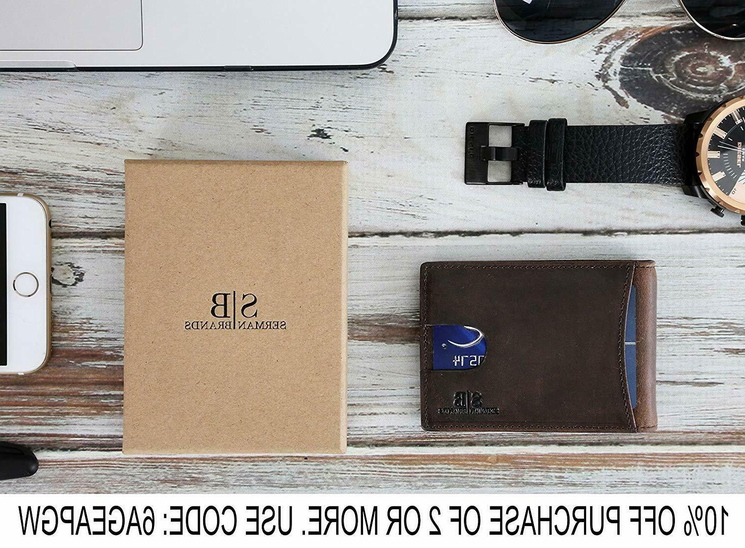 SERMAN BRANDS Leather Pocket with Money
