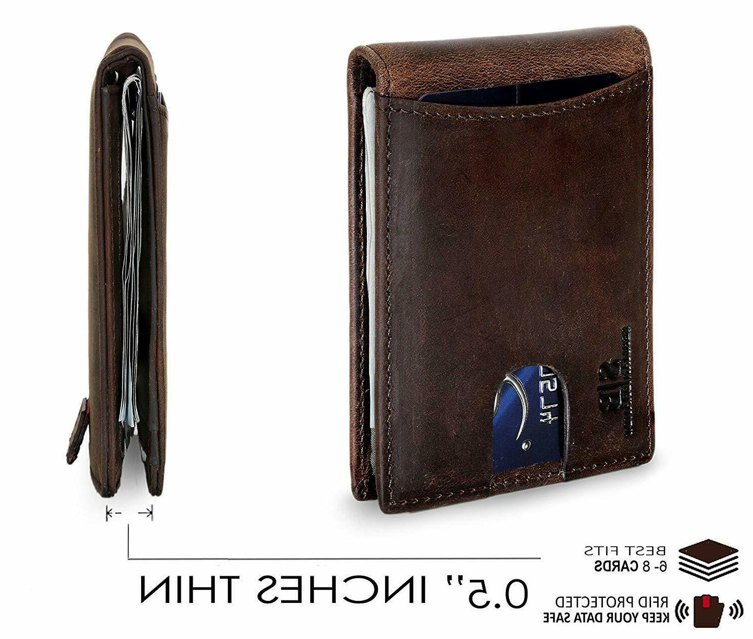 SERMAN Leather Front with Money