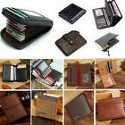 Bifold Wallet Men's Genuine Leather ID Credit Card Holder Mi