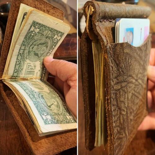 Bison Leather Money - - Made In USA