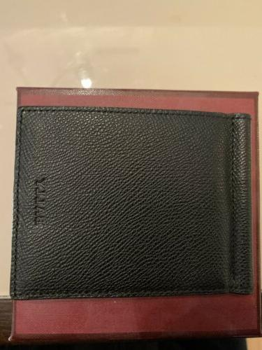 BALLY Black Money Clip Caf Wallet Made Switzerland